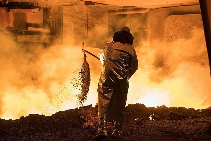 A steel worker in Germany. Firms are asking for relief from the US steel and aluminium import tariffs. So far, South Korea is the only nation to be spared, though nations including France and Germany have pushed to be excluded. US Commerce Secretary
