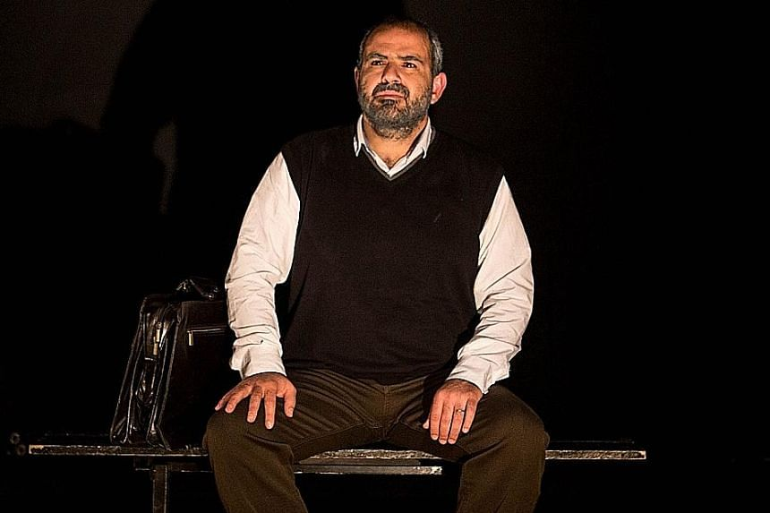 Palestinian writer-actor Amer Hlehel (above) in his monologue Taha. The material for the play came from My Happiness Bears No Relation To Happiness: A Poet's Life In The Palestinian Century by Adina Hoffman.