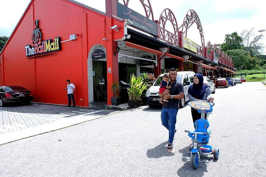 The Rail Mall in Upper Bukit Timah Road has a total net lettable area of about 50,000 sq ft and a 99-year lease that will expire in 2046.