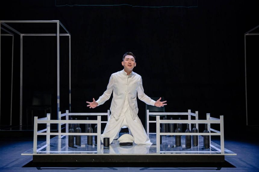 Actor Tang Shao Wei playing a disgraced naval officer in the theatre production A Dream Under the Southern Bough - The Beginning.