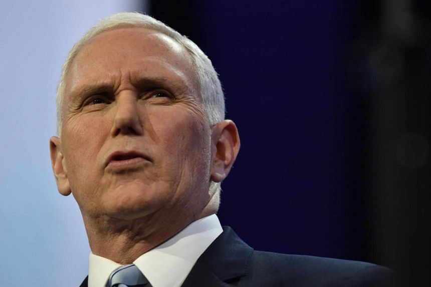 US Vice President Mike Pence's remarks came as he toured a construction site for a barrier in the Californian border town of Calexico.