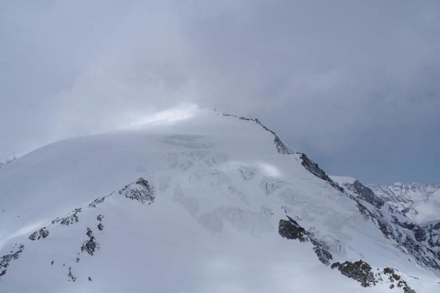 The Pigne d'Arolla area, where four skiers lost their lives and five others were in a critical state after being forced to spend the night exposed to the elements in the Swiss Alps.