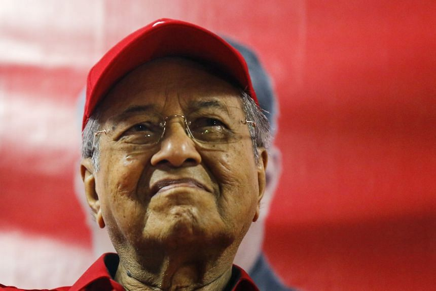 Dr Mahathir attending an election campaign event in Kuala Lumpur, on May 1, 2018.