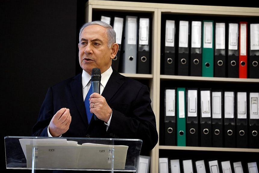 Israeli Prime Minister Benjamin Netanyahu spoke in Tel Aviv on Monday of Iran's past research into nuclear weapons technology.