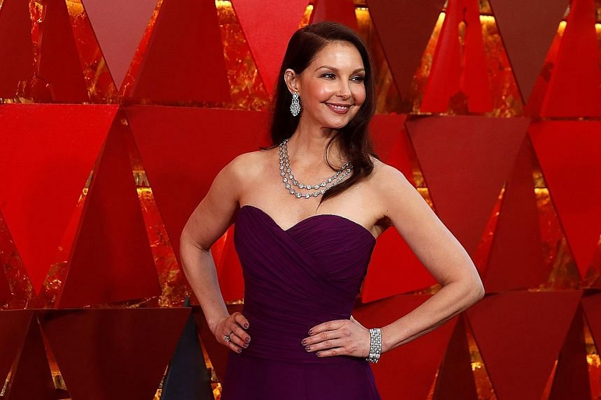 Ashley Judd at the 90th Academy Awards this year. The actress appeared in Weinstein films such as Frida (2002) and Crossing Over (2009).