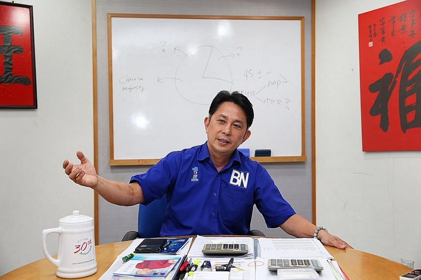 In Iskandar Puteri, local MCA chief Jason Teoh (above), who is challenging DAP leader Lim Kit Siang, believes his community ties - he has lived there all his life - will give him an edge.