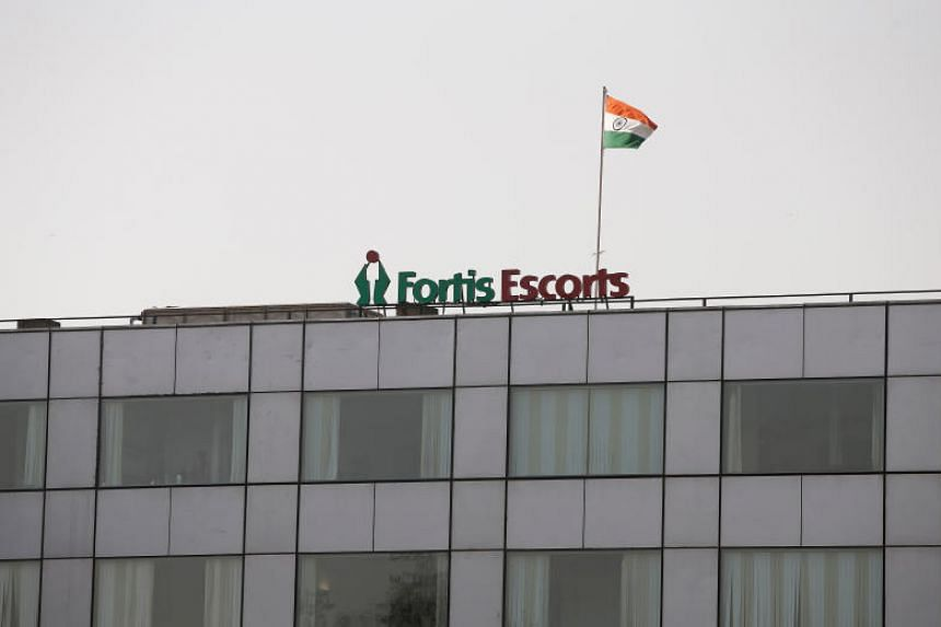 A Fortis hospital building in New Delhi, India.