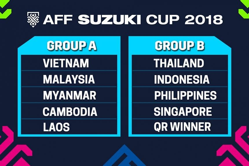 The Lions are in Group B with two-time defending champions Thailand, Indonesia, the Philippines and the winners of the Brunei-Timor Leste qualifiers.