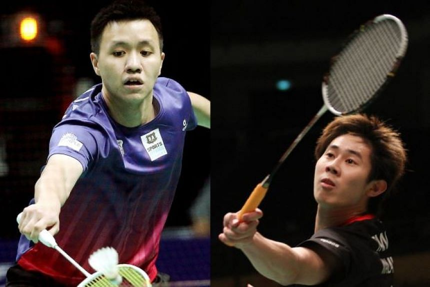 Former world junior champion Zulfadli Zulkiffli (left), 25, was banned for 20 years and fined US$25,000 (S$33,400), while Tan Chun Seang, 31, was barred for 15 years and fined US$15,000.