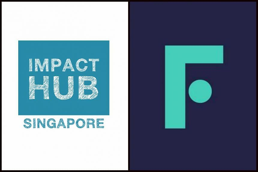 Co-working space operator Impact Hub Singapore's new logo (right) after it was rebranded as Found.