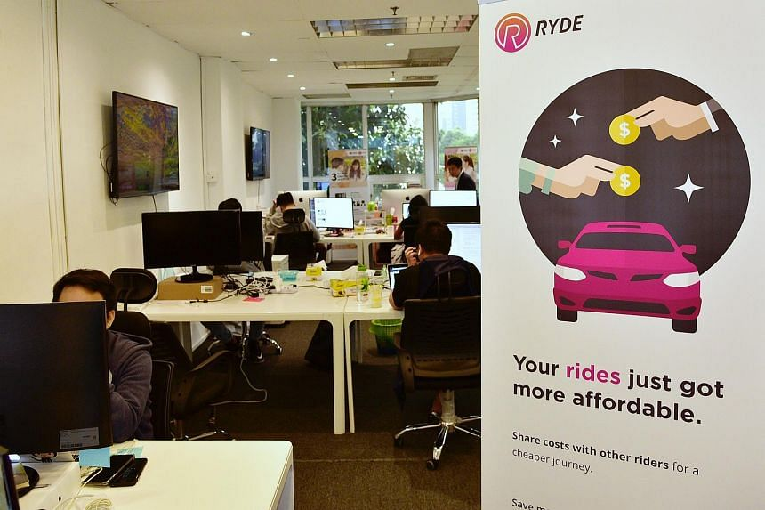 The Ryde office at North Bridge Centre. With RydeX, Ryde now has a complete suite of services, said its chief executive Terence Zou.