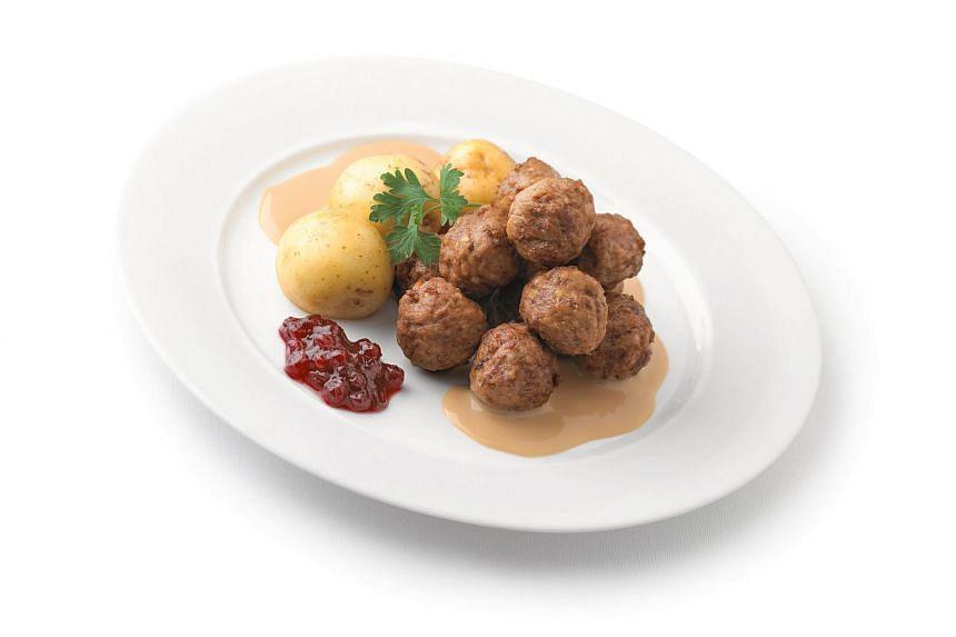 Swedish meatballs served at the Ikea restaurant.