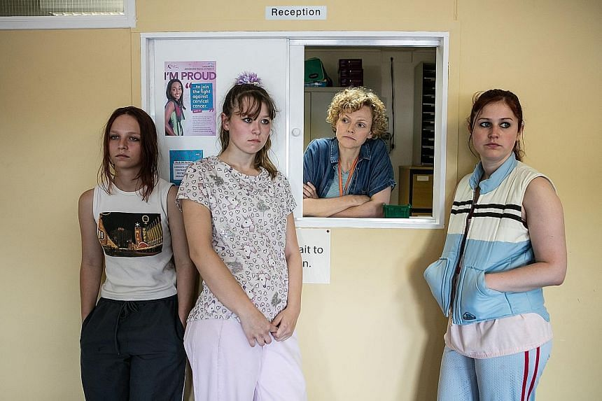 (From left) Molly Windsor, Liv Hill, Maxine Peake and Ria Zmitrowicz star in Three Girls, based on the Rochdale sex-grooming case.