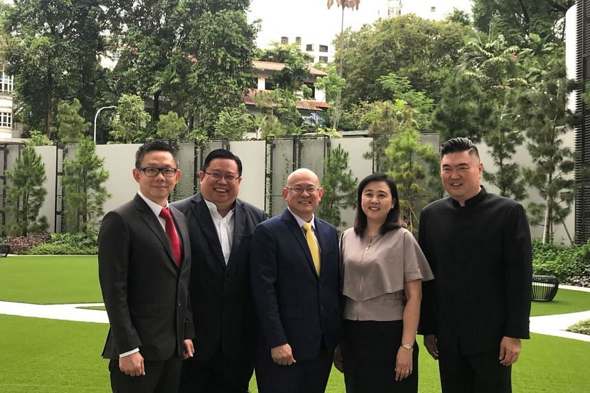 From left: Johnny Ng, director of MC Payment; Robson Lee, partner of Gibson, Dunn & Crutcher LLP; Anthony Koh, founder & CEO of MC Payment; Susan Choo ex-financial controller of Artivision Technologies, and Ching Chiat Kwong, controlling shareholder