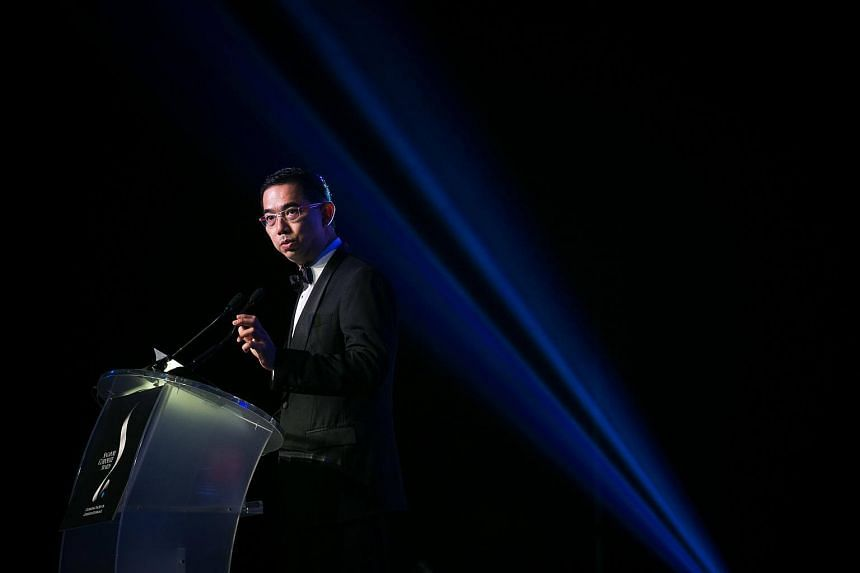 David Lim speaking at the 10th annual Singapore Corporate Awards (SCA) 2015. Credit Suisse announced that he has been appointed vice-chairman of private banking for South-east Asia.