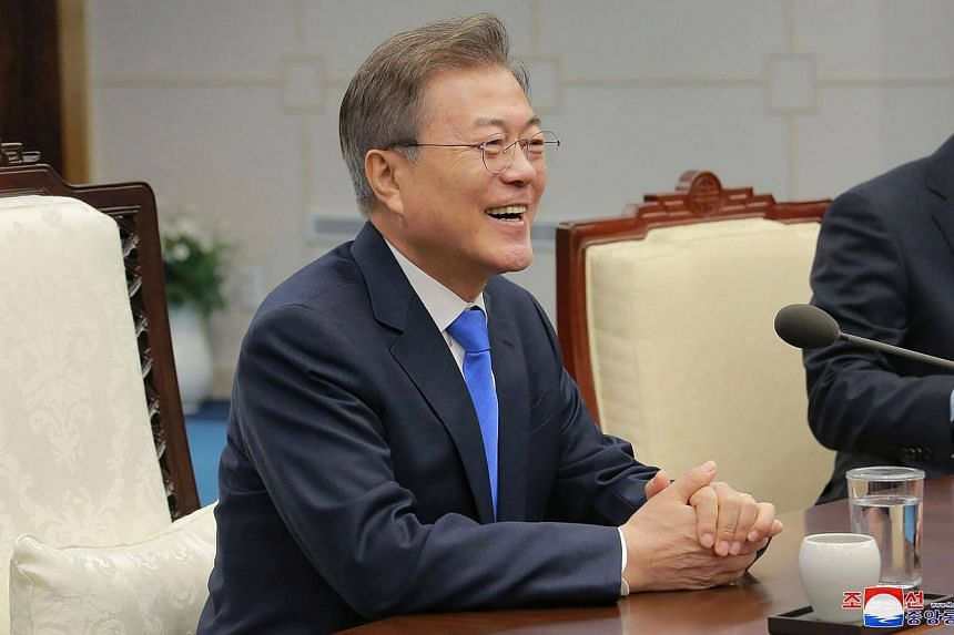 South Korean President Moon Jae In's support rose more than eight points to 78.3 per cent in the week following the inter-Korean summit.
