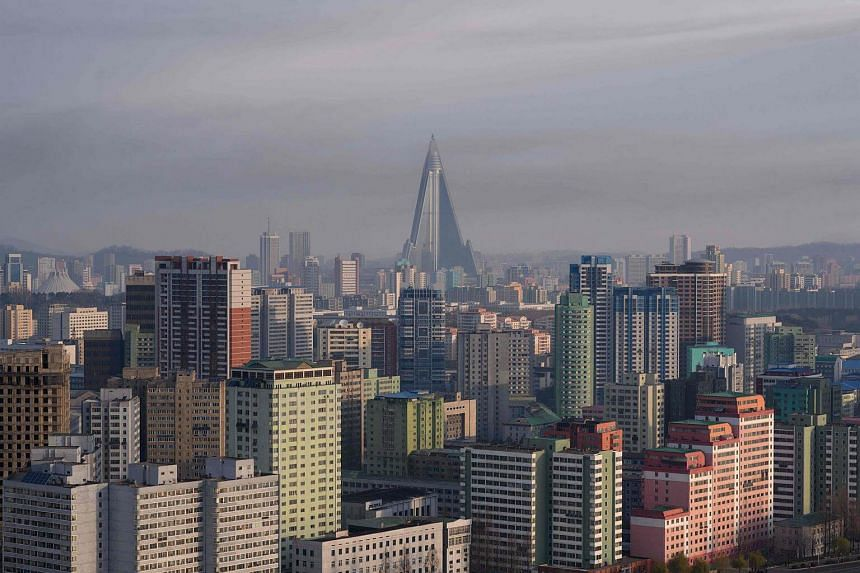 File photo showing the skyline of Pyongyang, North Korea's capital city, on April 8, 2018.