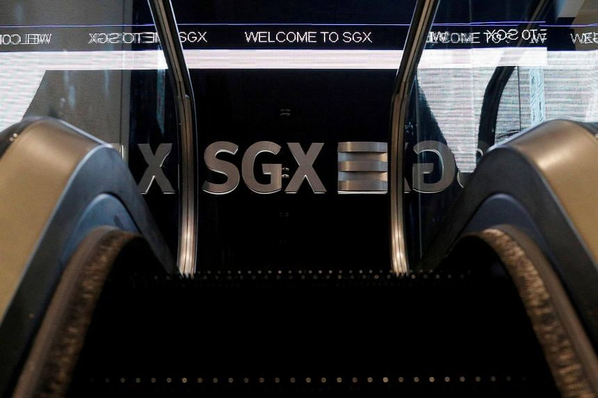 The Singapore Exchange logo seen in its building along Shenton Way.