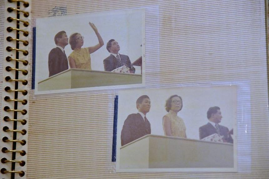 Photographs of the christening ceremony of Neptune Ruby by Mrs Lee Kuan Yew, 1972.
