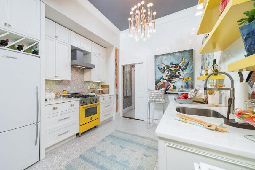 How To Use Colours To Accent An All White Kitchen Home
