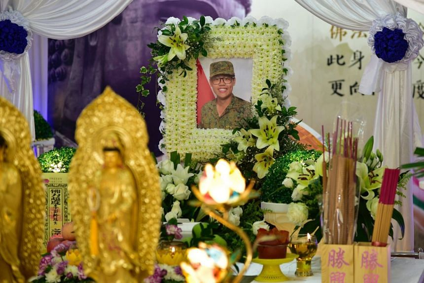 Full-time national serviceman Dave Lee Han Xuan died on April 30, two weeks after being admitted to Changi General Hospital for heatstroke.