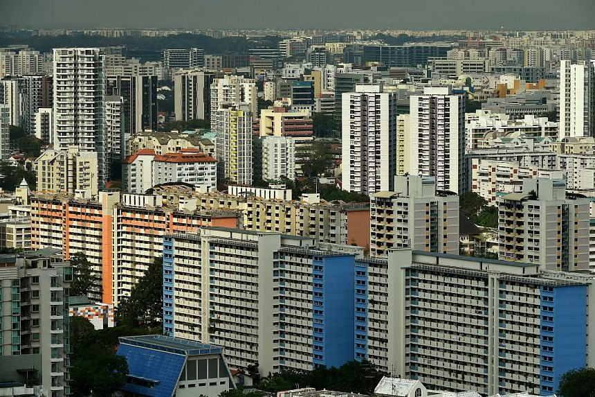 Resale prices of Housing Board flats in April have dipped 2.4 per cent from the same month last year.