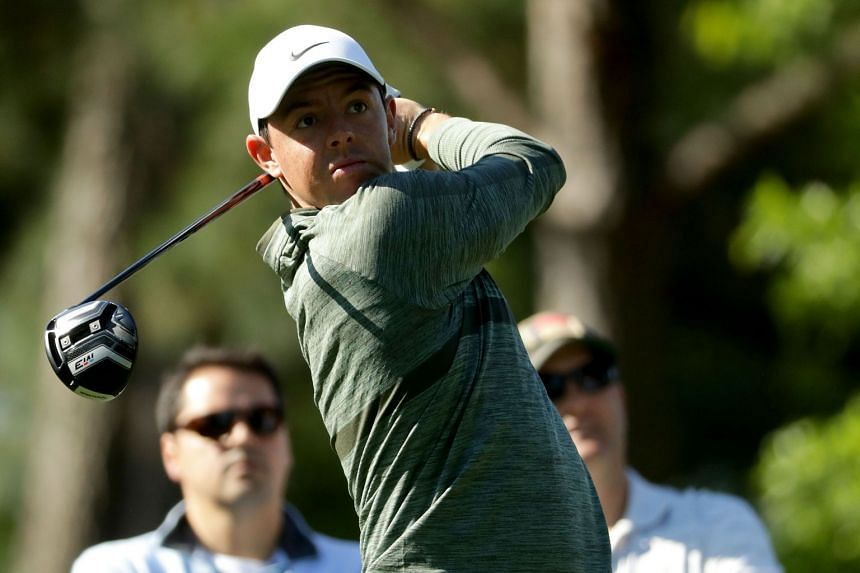 McIlroy plays a shot during the Pro-Am for the Wells Fargo Championship.