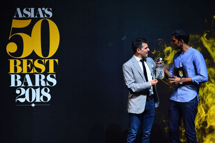 Vijay Mudaliar head bartender at Native was awarded the Bartenders' Bartender award.