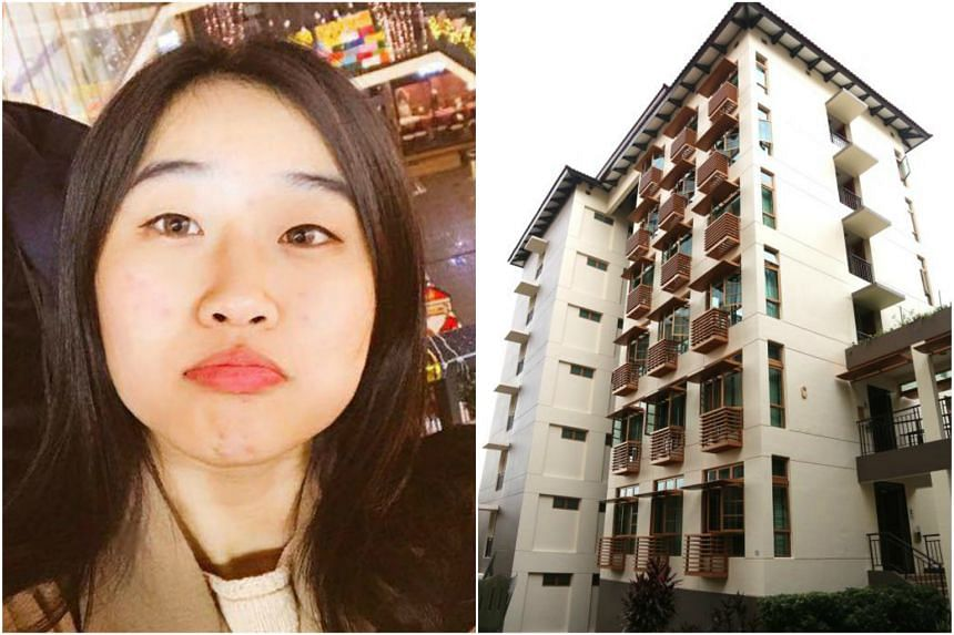 South Korean national Jung Haelin had fallen from a seventh storey laundry ledge at Sheares Hall  after mistakenly locking herself out of her room.