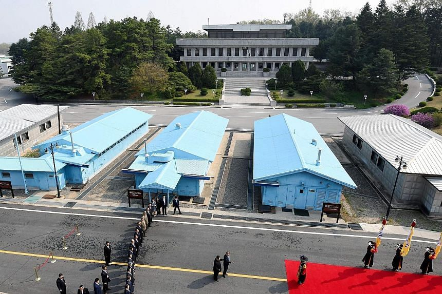 A possible venue is Panmunjom, where the April 27 inter-Korea meeting was held without a hitch.