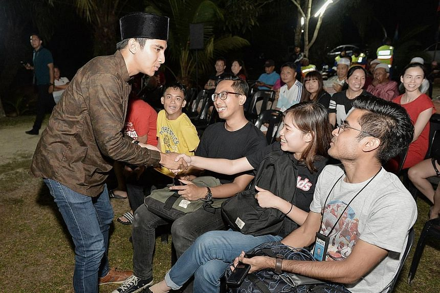 Mr Syed Saddiq Syed Abdul Rahman from PPBM boasts a strong social media following but locals in Muar are only just getting to know him in person.