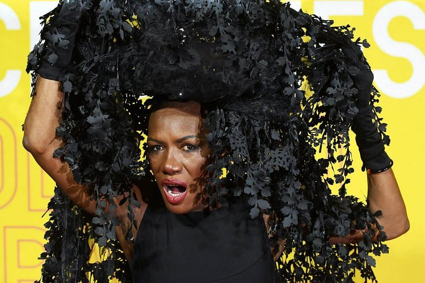Jamaican singer Grace Jones arrives to the premiere of a documentary film Grace Jones: Bloodlight And Bami in London, on Oct 25, 2017.