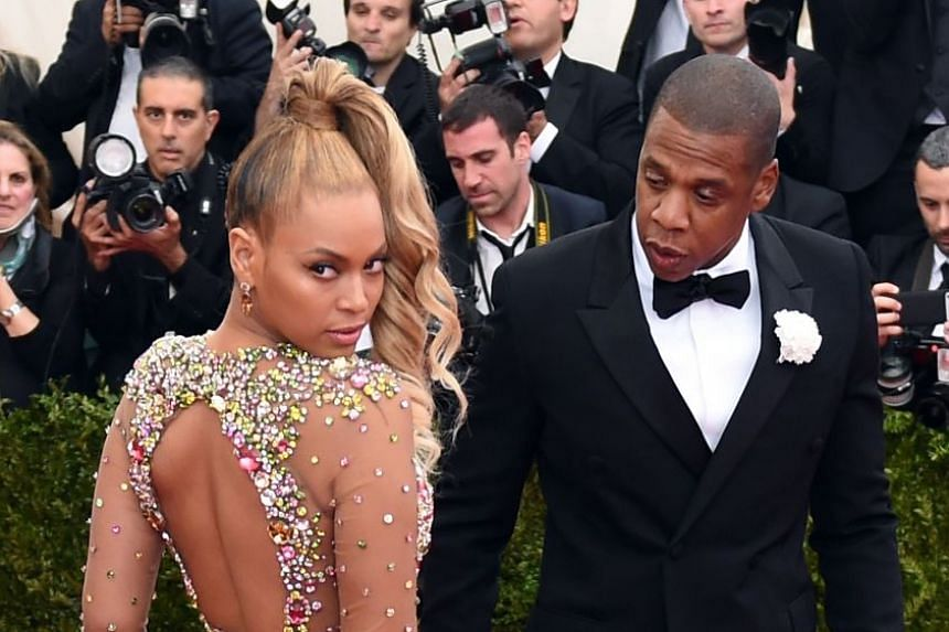 Jay Z and his wife, singer Beyonce, arriving at an event in New York in 2015.