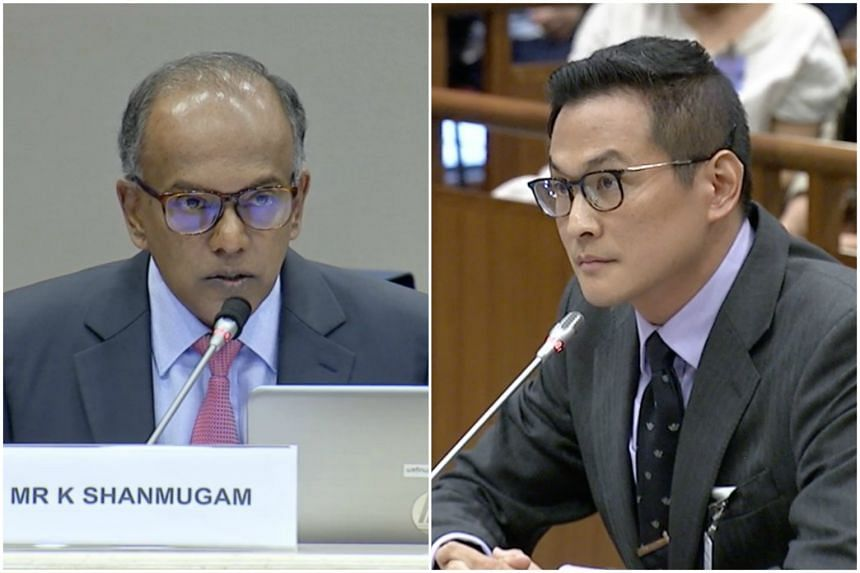 Law and Home Affairs Minister K. Shanmugan questioned historian Thum Ping Tjin for six hours in front of the committee in March.