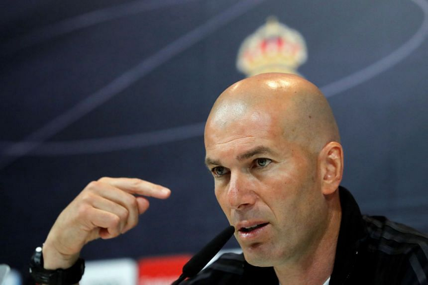 Zidane attends a press conference ahead of Sunday's Clasico clash.