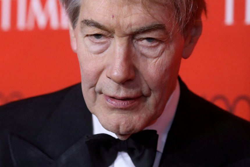 TV host Charlie Rose arriving for the Time 100 Gala in New York, on April 25, 2017.