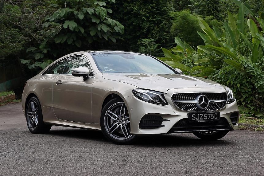 The E300 Coupe's generous and flat torque curve affords an effortlessness across a wide rev range.