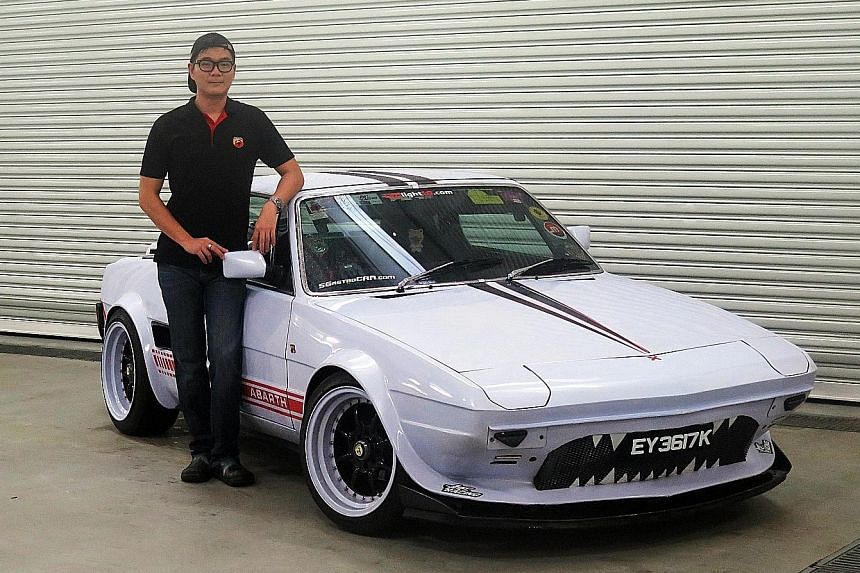 Mr Fabian Ng bought the Bertone X1/9 coupe for $30,000 and spent more than $25,000 repairing and restoring the car.