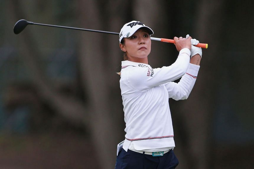 Lydia Ko hitting her second shot on the 18th hole during the final round of the Mediheal Championship.