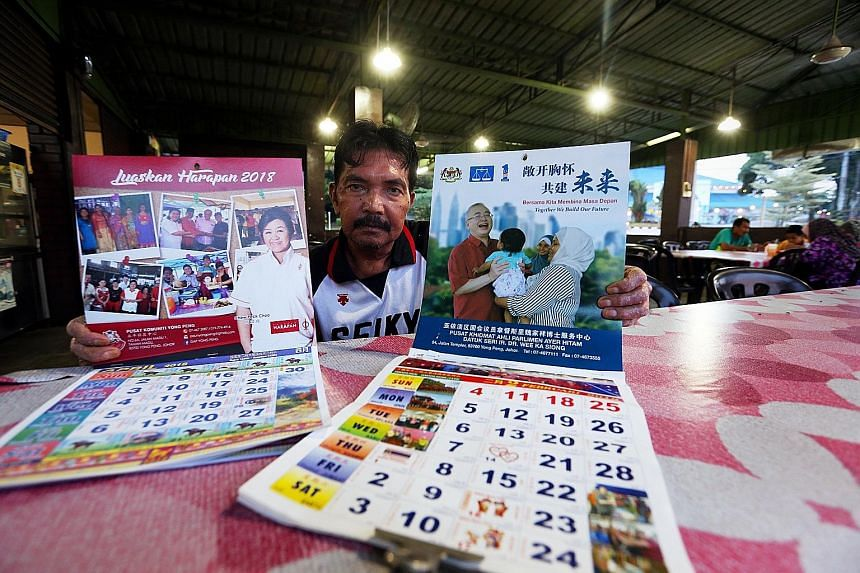 Mr Zaini Talib said when officials visited his restaurant, all he got were two calendars but no promises of development. A back lane in Jalan Trus in Johor Baru is being developed to make the area where more hipster joints have cropped up more vibran