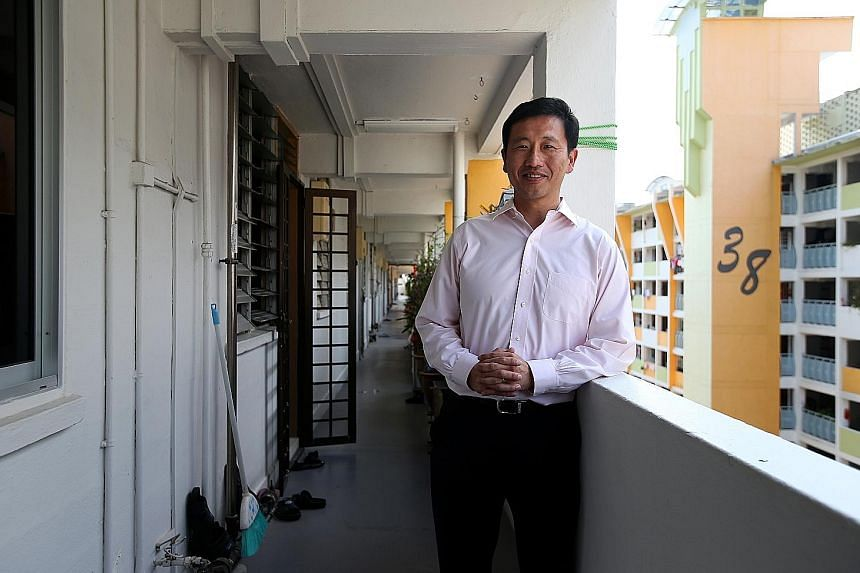 Mr Ong with pupils from CHIJ Our Lady Queen of Peace at the launch of a Clean and Green campaign in 2015. Mr Ong Ye Kung outside his former three-room flat in Beo Crescent. If academic excellence and going to university remains the only pathway to su
