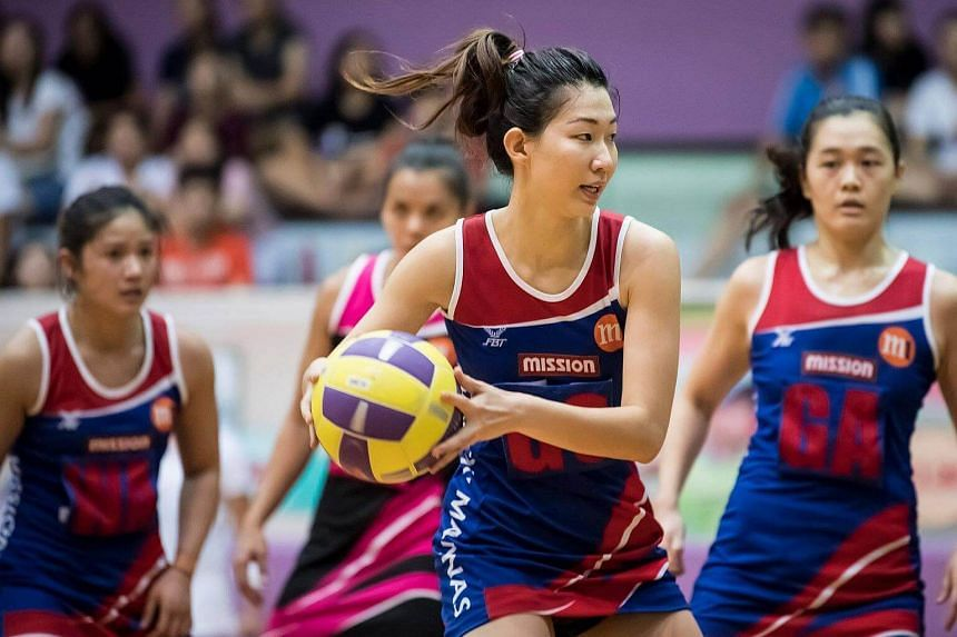 Mission Mannas co-captain Charmaine Soh in action against the Blaze Dolphins at the Toa Payoh Sports Hall.