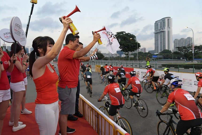 Close to 6,500 riders took part in OCBC Cycle's community rides on May 6, 2018.