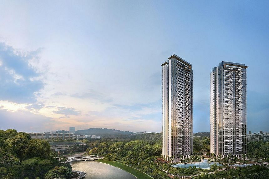 Twin VEW's two 36-storey towers will house one-to four-bedders from 484 sq ft to 1,518 sq ft, as well as the penthouses. One draw is the project's proximity to both the Jurong Lake District and the planned Kuala Lumpur-Singapore high-speed rail's ter
