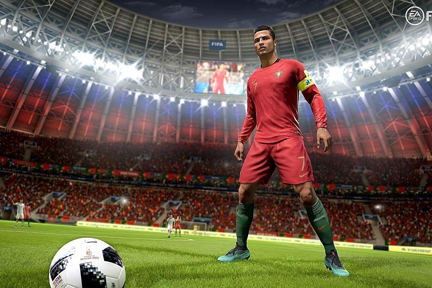 A digital version of footballer Cristiano Ronaldo that players of the Fifa 18 video game can win from a virtual card pack in the game. In recent weeks, several European countries have ruled that such card packs with random rewards, also called loot b