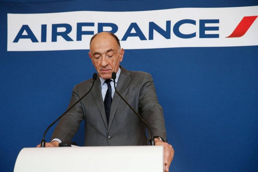 Air France-KLM CEO Jean-Marc Janaillac, who will stay on until May 15, had been battling to cut costs to keep up with competition from Gulf carriers and low-cost airlines.