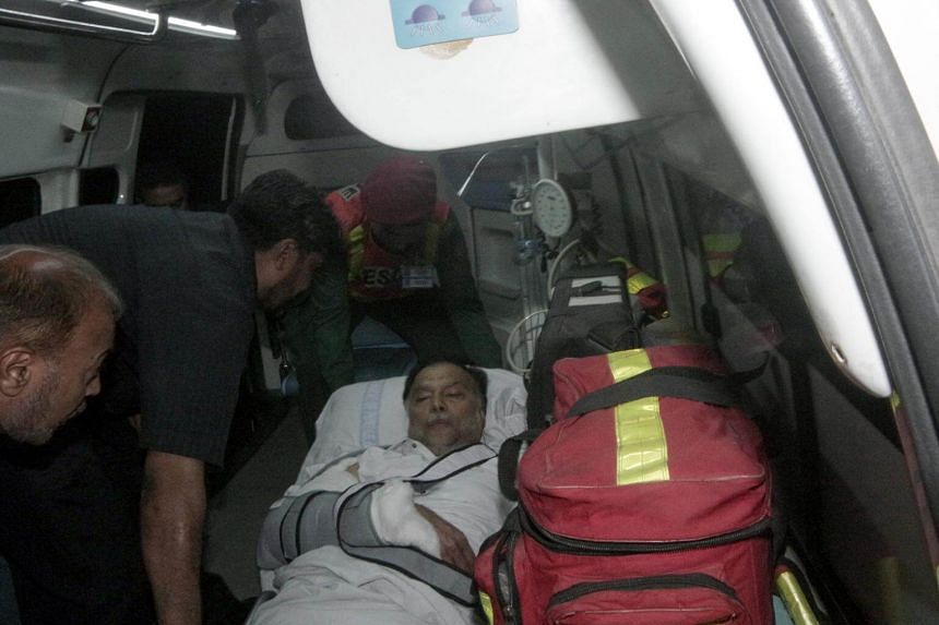 Pakistan's interior minister Ahsan Iqbal was shot in the right arm as he prepared to leave a public meeting in his constituency in Punjab province on May 6, 2018.