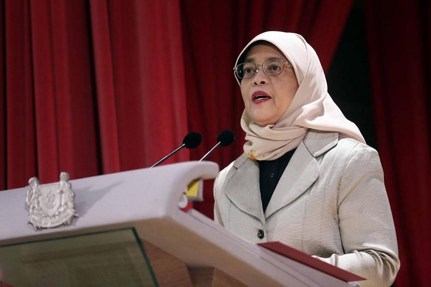 President Halimah Yacob's speechfollows a major Cabinet reshuffle, which saw several young ministers taking on new portfolios.
