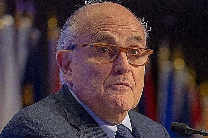 """Mr Rudy Giuliani called the US$130,000 paid to porn star Stormy Daniels in 2016 a """"nuisance payment""""."""
