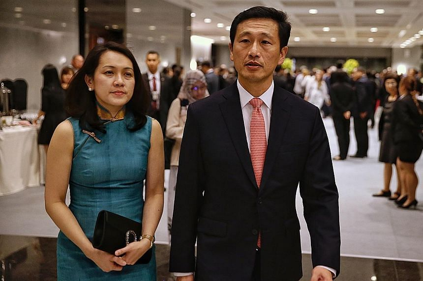 Education Minister Ong Ye Kung and his wife Diana Kuik. He was among key 4G leaders who filled the front bench following a Cabinet reshuffle this month.